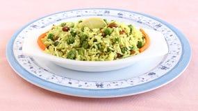 Ινδικό χορτοφάγο ρύζι λεμονιών τροφίμων Στοκ Φωτογραφίες
