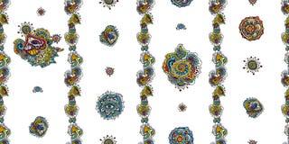 Ινδικό χρωματισμένο άνευ ραφής σχέδιο Στοκ Εικόνες