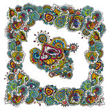 Ινδικό χρωματισμένο σχέδιο Στοκ Φωτογραφία