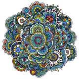 Ινδικό χρωματισμένο σχέδιο Στοκ Εικόνες