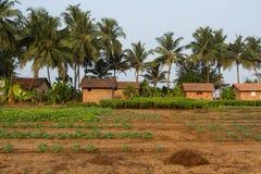 ινδικό χωριό Φρέσκα σπίτια εδάφους και τούβλου Στοκ φωτογραφίες με δικαίωμα ελεύθερης χρήσης
