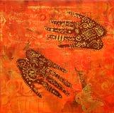 ινδικό ύφος έργου τέχνης Στοκ φωτογραφία με δικαίωμα ελεύθερης χρήσης