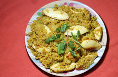 Ινδικό biryani ρυζιού αυγών ύφους Στοκ Φωτογραφίες