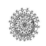 Ινδικό mandala λουλουδιών Στοκ Φωτογραφίες