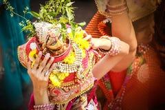 Ινδικό mata archana pooja παράδοσης gour rajasthani marwari maheshwari φεστιβάλ bhakti teej tyohar Στοκ φωτογραφία με δικαίωμα ελεύθερης χρήσης