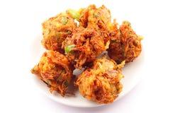 Ινδικό pakora τροφίμων οδών Στοκ εικόνα με δικαίωμα ελεύθερης χρήσης