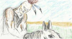 Ινδικό Pawnee διανυσματική απεικόνιση