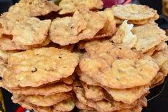Ινδικό streetfood - συνομιλία Papdi Στοκ Φωτογραφίες