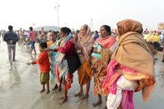 ινδοί προσκυνητές στοκ φωτογραφίες