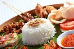 Ινδονησιακά τρόφιμα για το μεσημεριανό γεύμα στοκ φωτογραφία