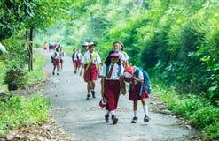 Ινδονησιακοί σπουδαστές δημοτικών σχολείων Στοκ Φωτογραφία