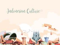 Ινδονησιακός πολιτισμός διανυσματική απεικόνιση