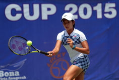 Ινδονησιακός τενίστας Deria Nurhaliza Στοκ εικόνες με δικαίωμα ελεύθερης χρήσης