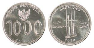 Ινδονησιακό σύνολο νομισμάτων ρουπίων Στοκ Εικόνες