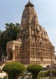 Ινδός ναός επί του ανατολικού τόπου σε Khajuraho της Ινδίας. Στοκ Εικόνες