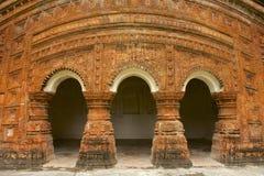 Ινδός ναός σε Puthia, Μπανγκλαντές στοκ εικόνα