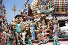 Ινδός ναός Krishnan Sri - Σιγκαπούρη Στοκ Φωτογραφία