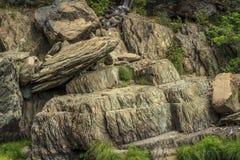 Ινδός πέφτει σχηματισμοί βράχου Στοκ φωτογραφία με δικαίωμα ελεύθερης χρήσης