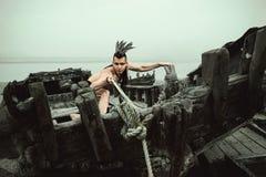 Ινδός στη βάρκα Στοκ φωτογραφία με δικαίωμα ελεύθερης χρήσης