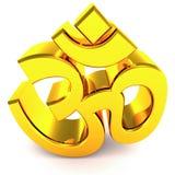 ινδό θρησκευτικό σύμβολο του OM Στοκ Εικόνες