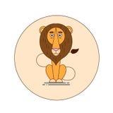 λιοντάρι Διανυσματικά κινούμενα σχέδια Στοκ Εικόνα