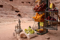Ιορδανία, Petra. Στον έμπορο καταστημάτων Στοκ Φωτογραφίες