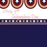 4 Ιουλίου ημέρα της ανεξαρτησίας Αστέρια και υπόβαθρο καπετάνιου Americao Στοκ Εικόνα