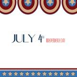 4 Ιουλίου ημέρα της ανεξαρτησίας Αστέρια, κόκκινο, μπλε λευκό κύκλων, καπετάνιος America Icon Background Για την κάρτα, αφίσα, ιπ Στοκ εικόνες με δικαίωμα ελεύθερης χρήσης