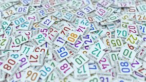 8 Ιουλίου ημερομηνία στο ημερολογιακό φύλλο μεταξύ άλλων φύλλων, τρισδ φιλμ μικρού μήκους