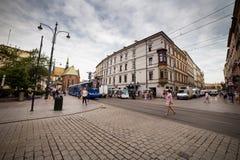 10 Ιουλίου 2017 - Κρακοβία, Πολωνία - παλαιό κέντρο πόλεων, αγορά Squa της Κρακοβίας Στοκ εικόνες με δικαίωμα ελεύθερης χρήσης