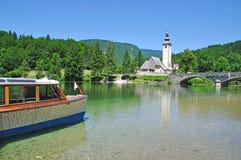 ιουλιανή λίμνη Σλοβενία ορών bohinj Στοκ Εικόνα