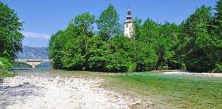 ιουλιανή λίμνη Σλοβενία ορών bohinj Στοκ φωτογραφία με δικαίωμα ελεύθερης χρήσης