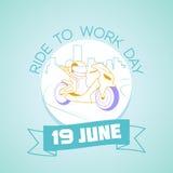 19 Ιουνίου γύρος για να απασχοληθεί στην ημέρα ελεύθερη απεικόνιση δικαιώματος