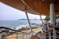 21 Ιουνίου 2017 ωκεανός Busan που βλέπει από το σπίτι του APEC Nurimaru σε Busan, Στοκ εικόνες με δικαίωμα ελεύθερης χρήσης