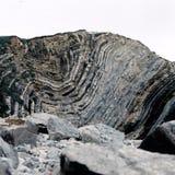 Ιουρασική ακτή - στρώματα βράχου Στοκ Φωτογραφία