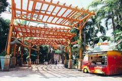 Ιουρασικό θέμα πάρκων Στοκ εικόνες με δικαίωμα ελεύθερης χρήσης