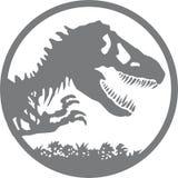 Ιουρασικό λογότυπο πάρκων διανυσματική απεικόνιση