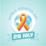 28 Ιουλίου ημέρα παγκόσμιας ηπατίτιδας Στοκ Εικόνες