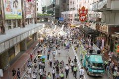 1 Ιουλίου διαμαρτυρία στο Χονγκ Κονγκ Στοκ Φωτογραφίες