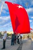 15 Ιουλίου διαμαρτυρίες προσπάθειας χτυπήματος στη Ιστανμπούλ Στοκ εικόνα με δικαίωμα ελεύθερης χρήσης
