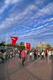 15 Ιουλίου διαμαρτυρίες προσπάθειας χτυπήματος στη Ιστανμπούλ Στοκ Φωτογραφία