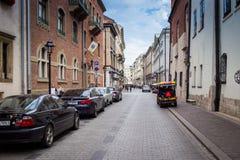 10 Ιουλίου 2017 - Κρακοβία, Πολωνία - παλαιό κέντρο πόλεων, αγορά Squa της Κρακοβίας Στοκ Φωτογραφία