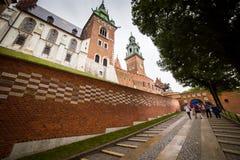 10 Ιουλίου 2017, Κρακοβία - το κάστρο Wawel στην ημέρα, λόφος Wawel με Στοκ Φωτογραφίες