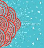 4 Ιουλίου σύγχρονο πρότυπο καρτών Διανυσματική απεικόνιση