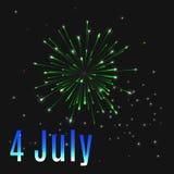 4 Ιουλίου Ελεύθερη απεικόνιση δικαιώματος