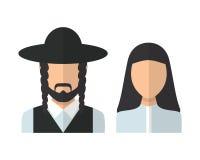 Ιουδαϊκοί άνδρας και γυναίκα Στοκ εικόνα με δικαίωμα ελεύθερης χρήσης
