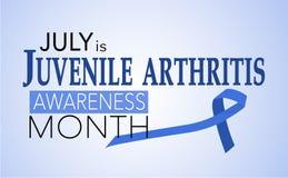 Ιούλιος είναι νεανικός μήνας συνειδητοποίησης αρθρίτιδας διανυσματική απεικόνιση