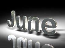 Ιούνιος μεταλλικός ελεύθερη απεικόνιση δικαιώματος