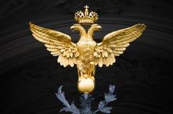 διπλό έμβλημα Ρωσία αετών Στοκ Φωτογραφίες