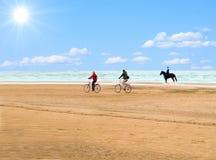 ιππέας ποδηλατών Στοκ Φωτογραφία